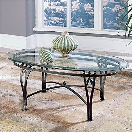 Ordinaire Steve Silver Madrid Glass Top Coffee Table