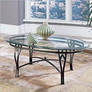 Amazon.com: Steve Plata Madrid parte superior de vidrio mesa ...
