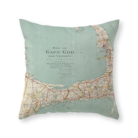 Mar Chica suave Vintage mapa de Cape Cod (1917) manta ...