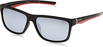 Polaroid Pld 7014/S Ex gafas de sol, Negro (Black Red Gld/Greyslv Fl Pz), 59 para Hombre