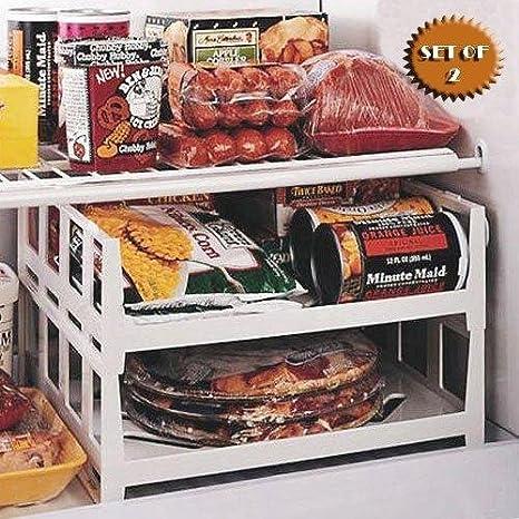 Remarkable Versatile Stackable Freezer And Fridge Shelves Set Of 2 By Jumbl Interior Design Ideas Apansoteloinfo