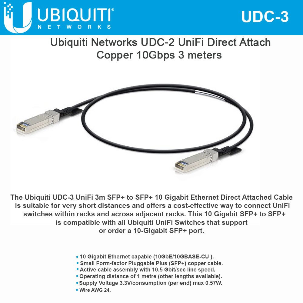 UniFi Direct Attach Copper Cable UDC-3 10Gbps 3 Meters