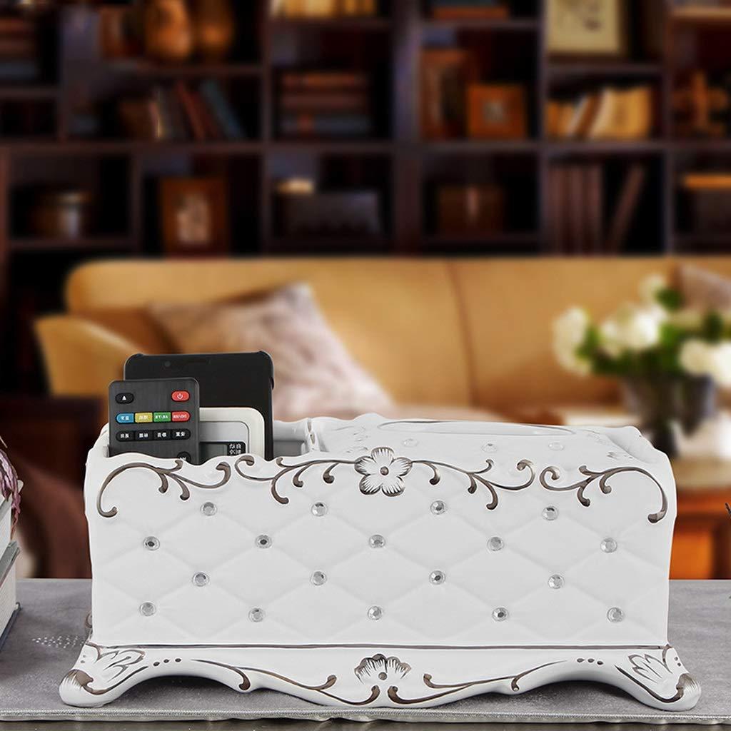 Xiaoyu Caja De Pañuelos, Casa Hotel Baño Toalla Servilleta Caja De Almacenamiento Pañuelo Caja Calidad Adornos De Cerámica Blanco: Amazon.es: Hogar