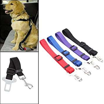Durable Safety Car Vehicle Seatbelts Leads Use with Harness Chakil Pet Adjustable Dog Seat Belt Tether Leash for Dogs Cats