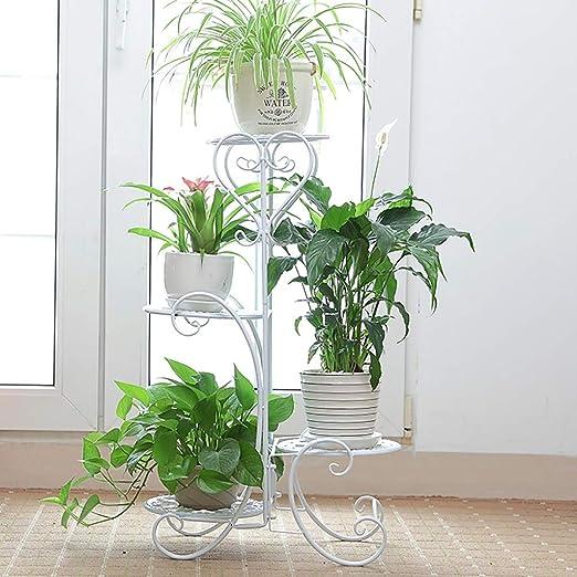 Puesto de plantas Soporte de exhibición de macetas de cuatro capas ...