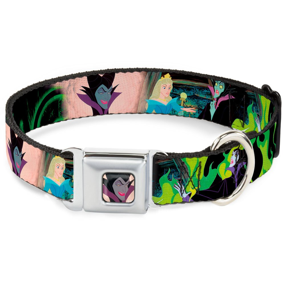Buckle-Down DC-WDY068-WS Dog Collar Seatbelt Buckle, Princess Aurora & Maleficent Scenes, 1.5  by 13-18