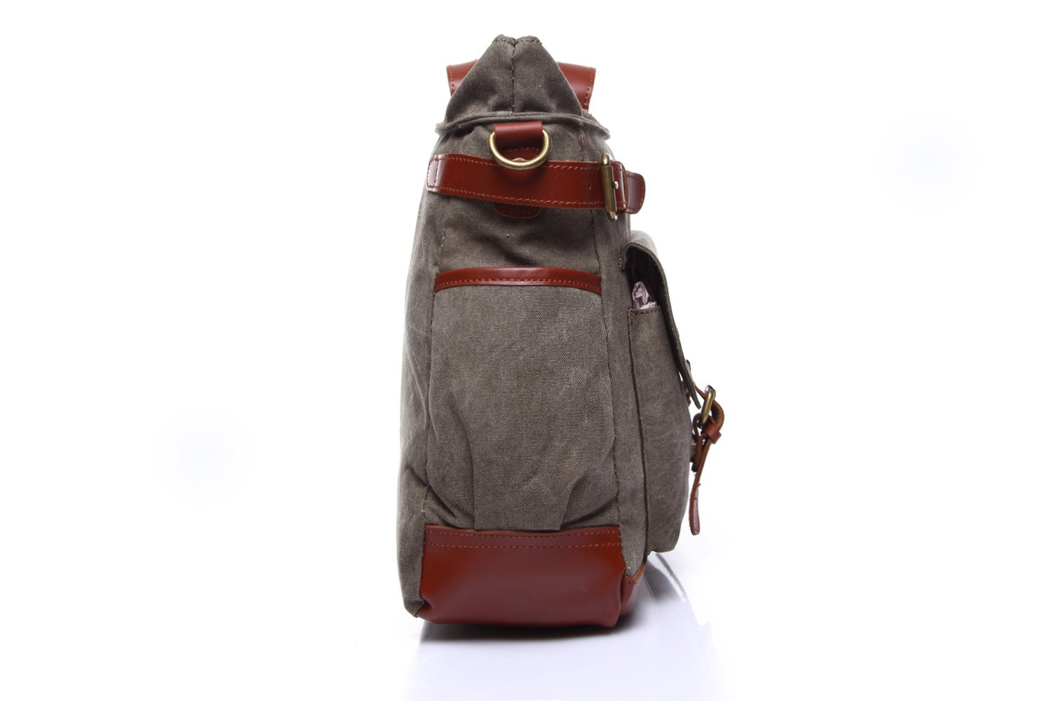 Color : Gray, Size : M Lydianzishangwu Mens Messenger Bag Canvas Leisure Travel Computer Bag Shoulder Portable Multifunction Bag Briefcase