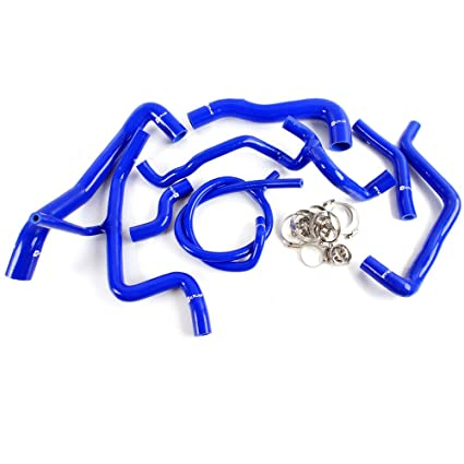 Silicone Radiator Hose For VW Volkswagen Golf MK3 VR6 2.8 2.9 1994 - 1998 Blue