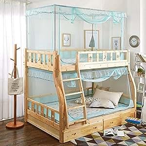 YROYR Litera cama mosquitera, trapezoidal tela de encaje ...