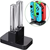 Joy-Con 4-Controller Charging Stand Dock Charger Compatible with Nintendo Switch Console