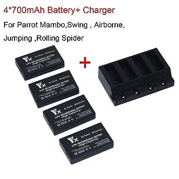 Prevently - Batería Compatible con Mini Drones Mambo (700 mAh ...