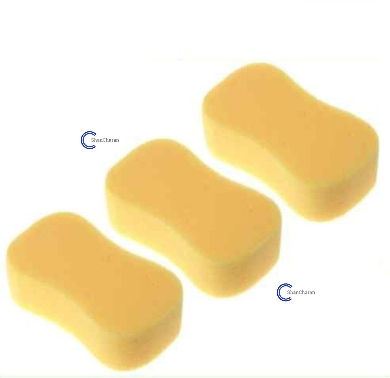 Pack of 3 Jumbo Sponges for Car Wash, Window Cleaning Sponge SHANCHARAN