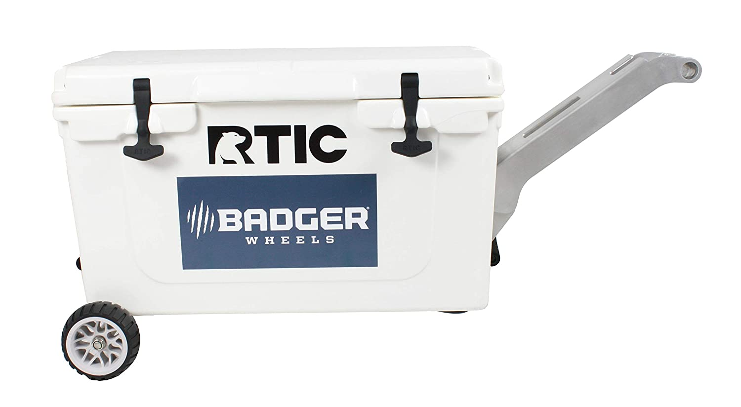 Handle//Stand Fits RTIC 45 and 65 Badger Wheels RTIC Original Wheel Kit Single Axle