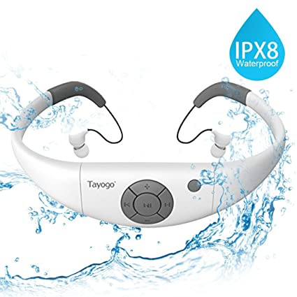 Tayogo Reproductor de MP3 IPX8 mp3 Impermeable natación, 8GB de Memoria, Permite descargar 2000