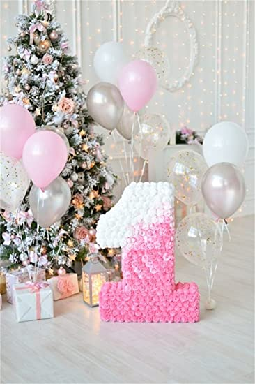 Amazoncom OFILA Baby Girl 1st Birthday Backdrop 3x5ft Photography