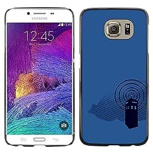 CASER CASES / Samsung Galaxy S6 SM-G920 / Dr Wh0 Telephone Booth / Delgado Negro Plástico caso cubierta Shell Armor Funda Case Cover