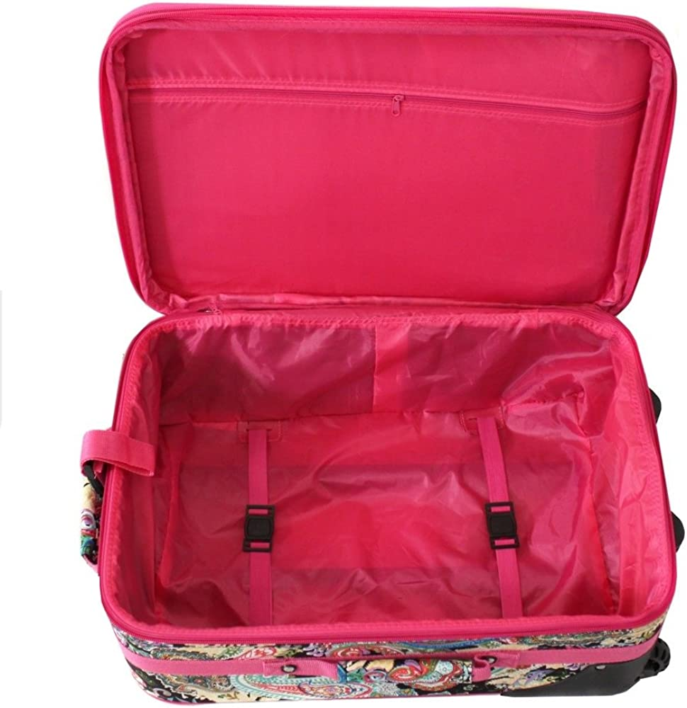 World Traveler Womens 20 Rolling Carry-on Luggage Suitcase
