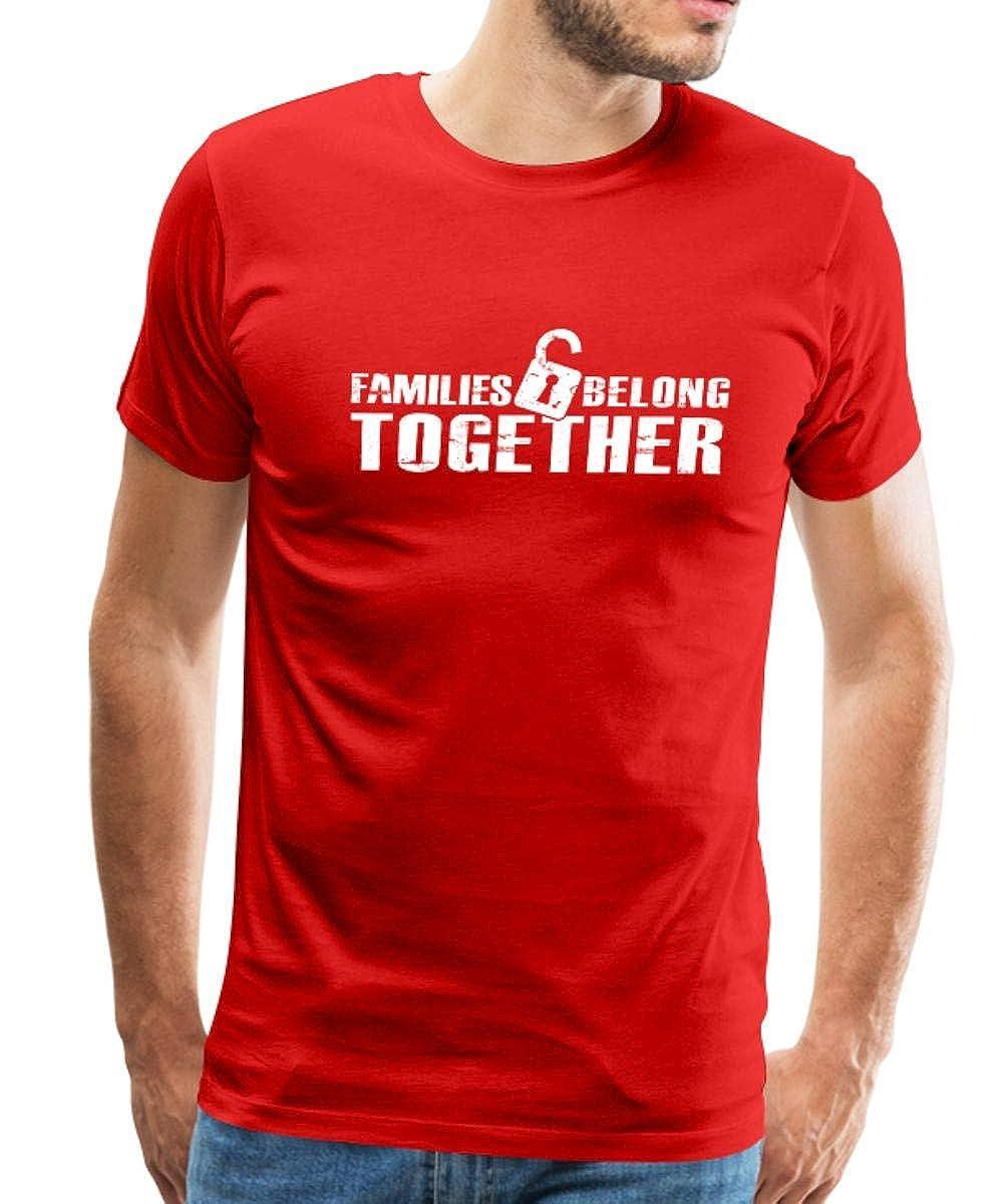 1fe00cc51 Amazon.com: Spreadshirt Families Belong Together Stop Family Separation Men's  Premium T-Shirt: Clothing