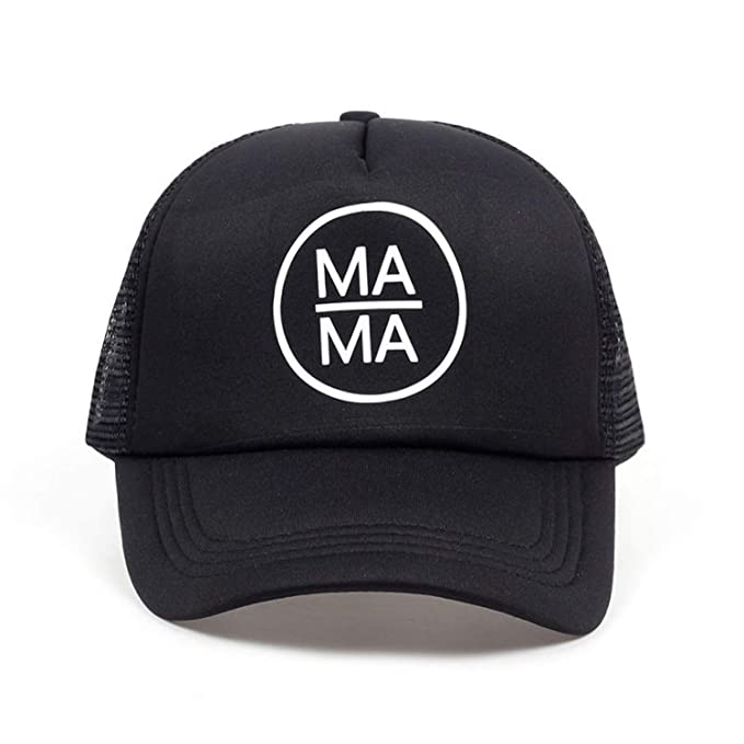 2019 American Mama Creative Baseball Cap Mama Trucker Hat Black Snapback Gorras Bone Mother Mama Mom Life Hat at Amazon Mens Clothing store: