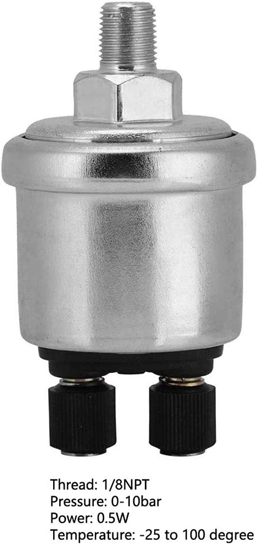 MEIHSI Sensor de presi/ón de Aceite Sensor de presi/ón de Aceite Universal de 0 a 10 Bares 1//8NPT para generador di/ésel