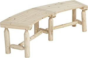 Stonegate Designs Outdoor Wooden Fire Pit Bench