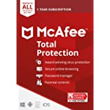 McAfee Total Protection 2021 Unlimited Devices, Antivirus Internet Security Software Password Manager, Parental Control, Priv