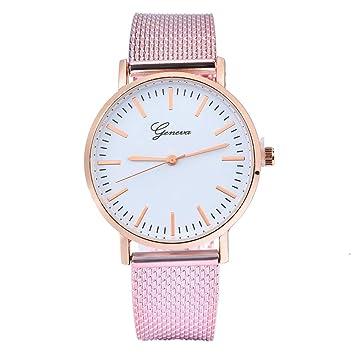 Beisoug Best Ginebra Mujeres clásico Cuarzo Gel de sílice Reloj de Pulsera Relojes de Pulsera: Amazon.es: Hogar
