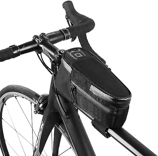 ZXASDC Bolsa de Bicicleta, Tela Impermeable Bolsa Bici Manillar ...