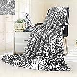 AmaPark Digital Printing Blanket Effects Islamic Folk Design Grey White Summer Quilt Comforter