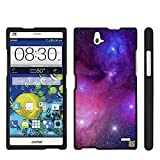 Spots8® for ZTE Grand X Max/X Max+ Z787/Z987 (Cricket) Glossy Image on 2 Piece Snap On Images Cellphone Hard Protective Case Cover [Milkway Galaxy]