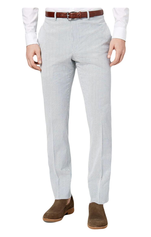 de293de7e RALPH LAUREN Lauren Men s Classic-Fit Ultraflex Blue White Seersucker Suit
