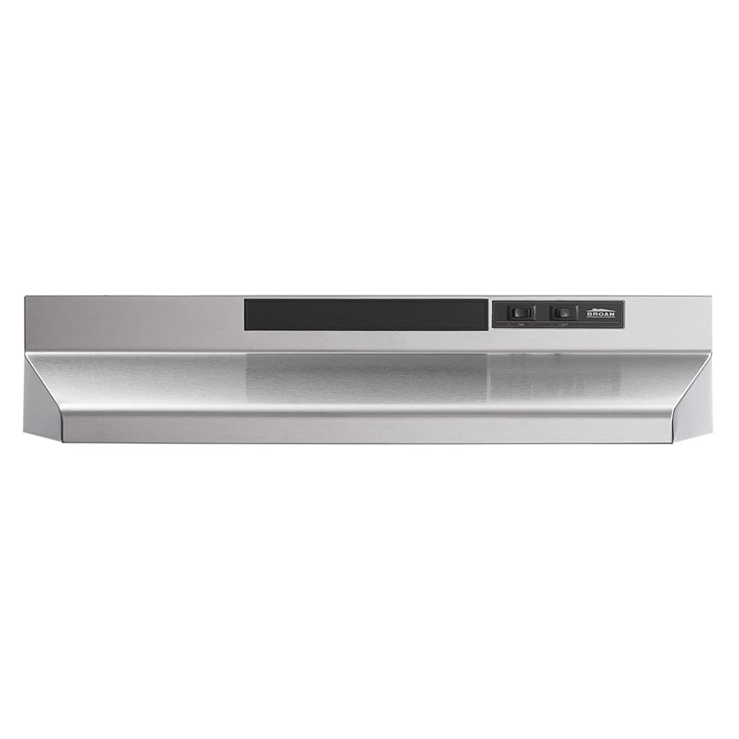 B000A7QJKI Broan-NuTone F403004 Two-Speed Four-Way Convertible Range Hood, 30-Inch, Stainless Steel 61nizstFTnL