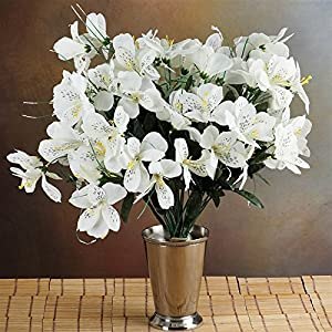 144 Wholesale Artificial Silk Amaryllis Flowers Wedding Vase Centerpiece Decor - Cream 64