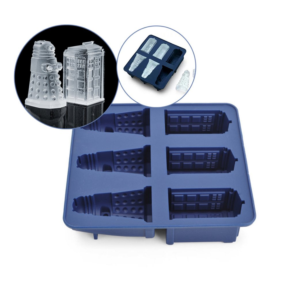 Nicedeal Doctor Who Silicone Ice Cube Tray Tardis & Daleks for Kitchen Tools and Home Improvement