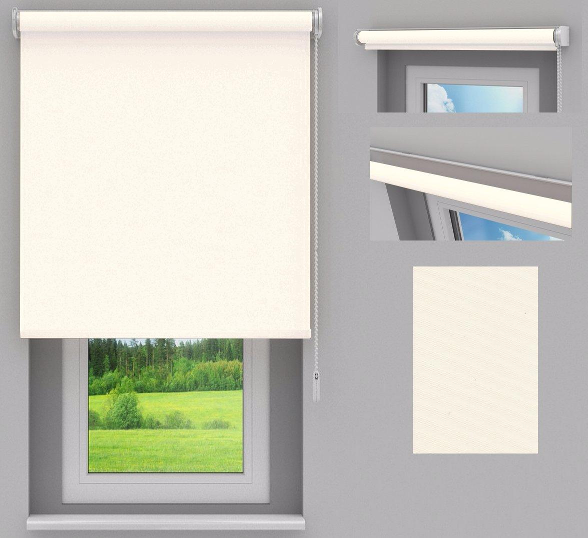 SUNLUX24 Rollo Basic auf Maß   Stoff  Beige(ROB007)   Systemfarbe  Weiß   Montage  Wand-, oder Deckenmontage   Breite 130,1 bis 140cm x Höhe 260,1 bis 270cm