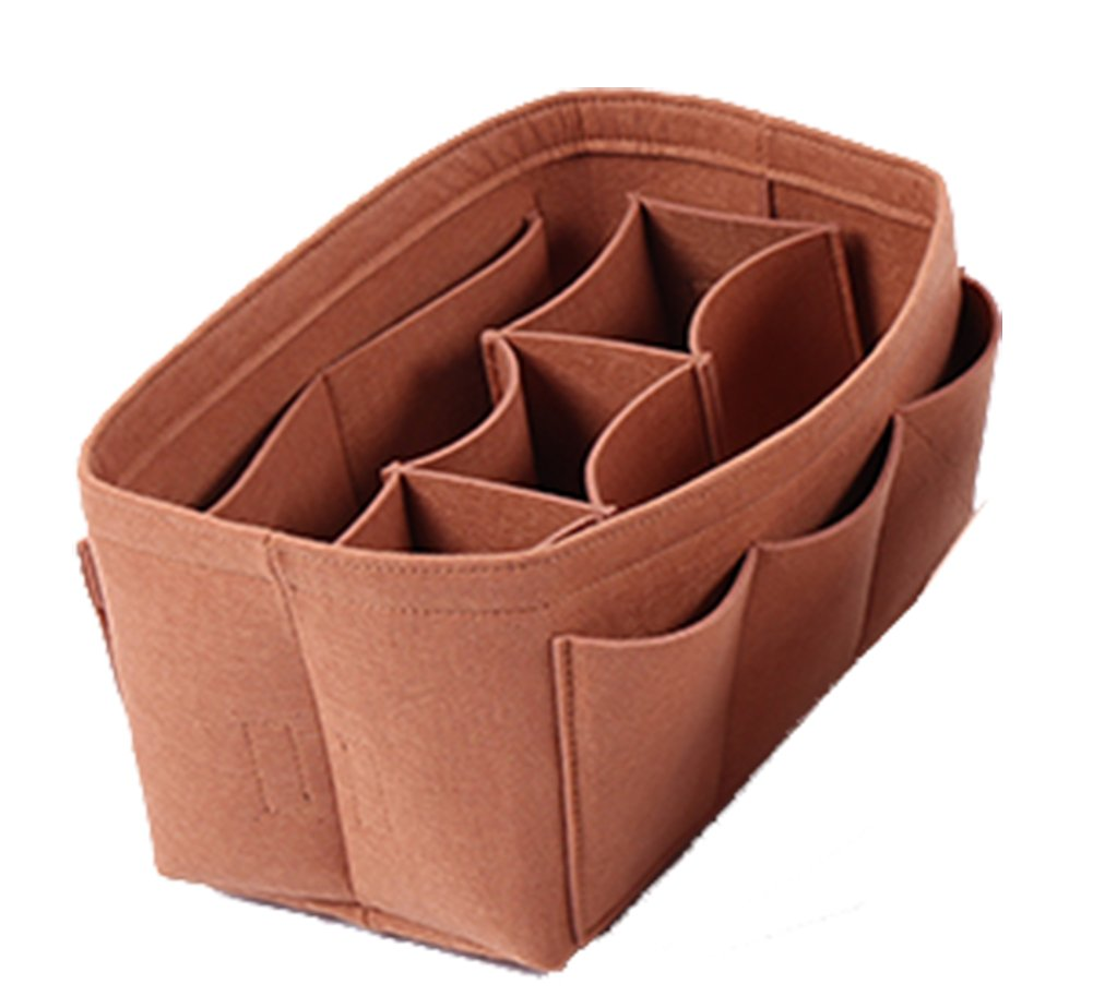Haloyo Felt Fabric Purse Organizer Insert Bag In Bag for Handbag Tote Bag Multi-Pocket