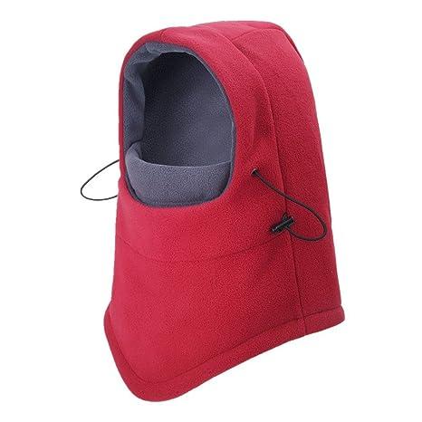 6ff7113b7e54 ZYCC Cagoule Cagoule Multipurpose Utiliser Chaude Polaire Coupe-Vent Ski  Chapeau Masque De Sport Réglable