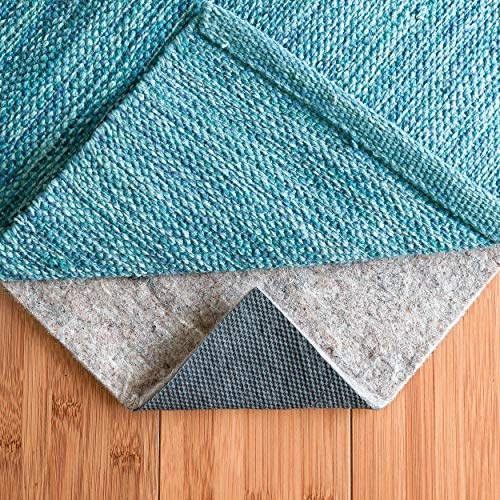 RUGPADUSA, 6' x 9', 1/4'' Thick, Basics Felt + Rubber Non Slip Rug Pad, Softens Rugs and Prevents Slipping, Won't Mark or Stain Floor Finishes ()