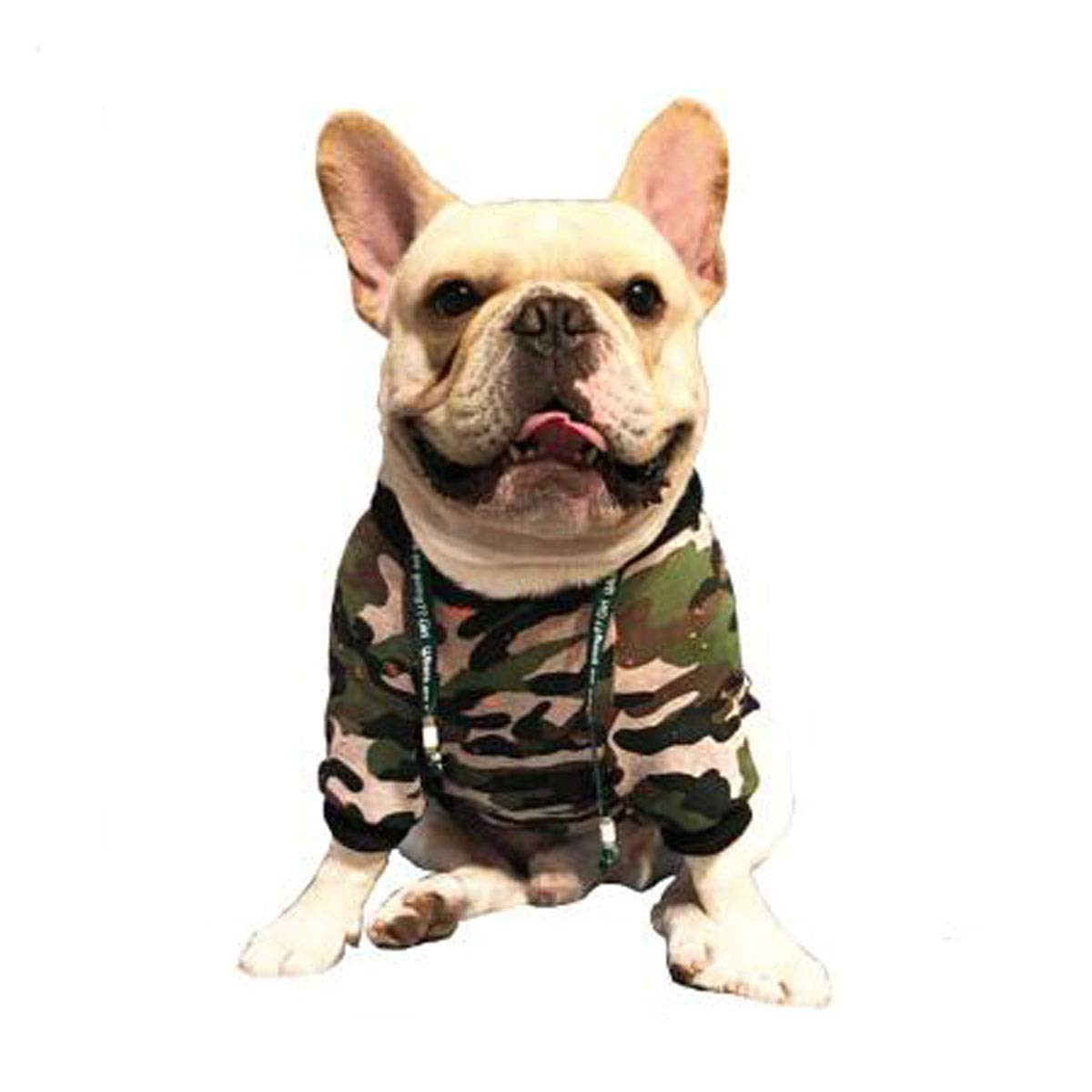 L Jiansheng Pet Clothing, Small Bulldogs, Small And Medium Dogs, Spring Camouflage Clothes, (Size   L)