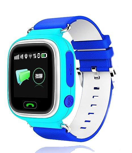 Amazon.com: Reloj de pulsera inteligente para niños GPS+WiFi ...