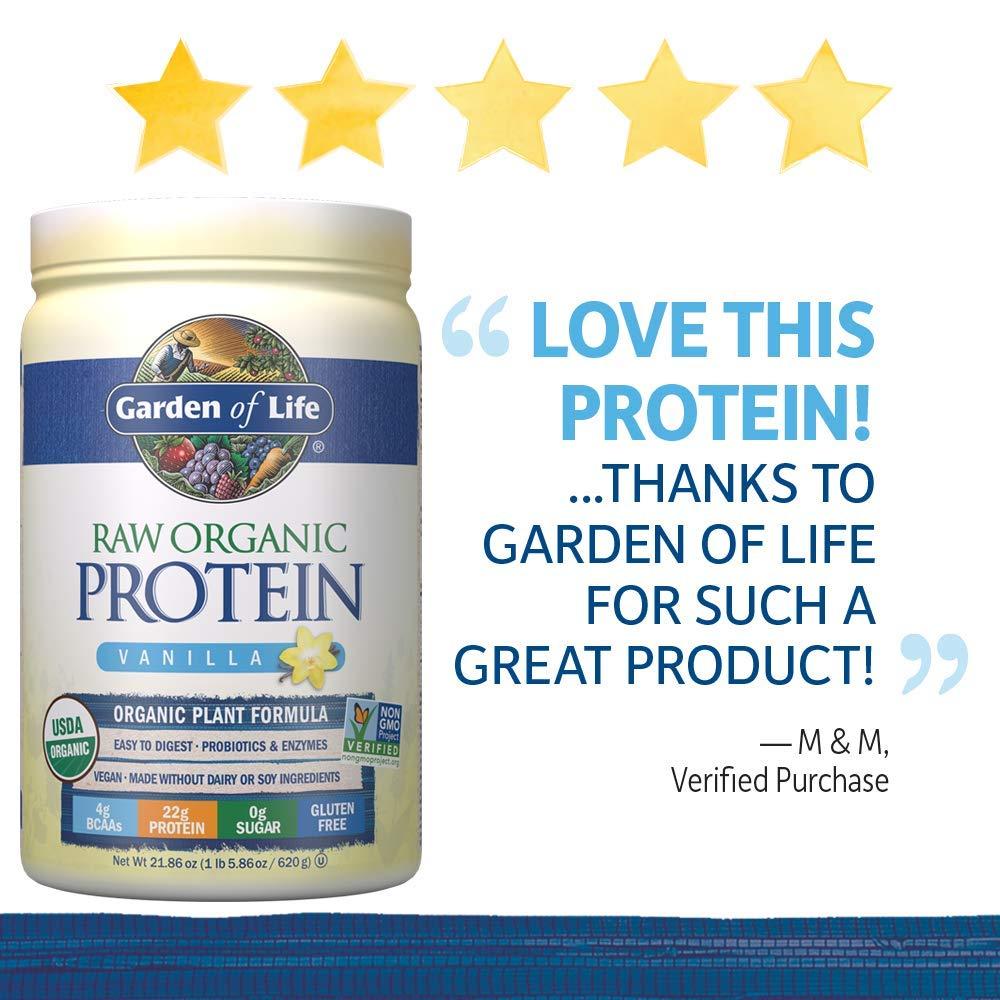 Garden of Life, Raw Protein, Vanilla, 22 oz (631 g): Amazon.es: Salud y cuidado personal