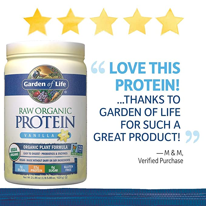 Garden of Life, Raw Protein, Vanilla, 22 oz (631 g): Amazon.es: Electrónica
