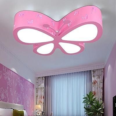 Éclairage pour enfants Simple et moderne Plafonnier LED papillon La ...