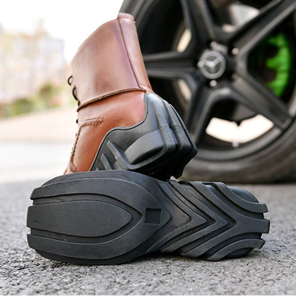 WERT Motorradstiefel Herren Ttouring Leder Motocross-Schutzstiefel Onroad-Stiefel Kurze Stiefeletten Motorrad-Reitstiefel Martin Boots