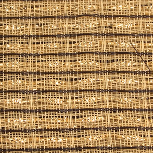 Cabinet Grill Cloth, Brown/Beige with Gold Accent, 34
