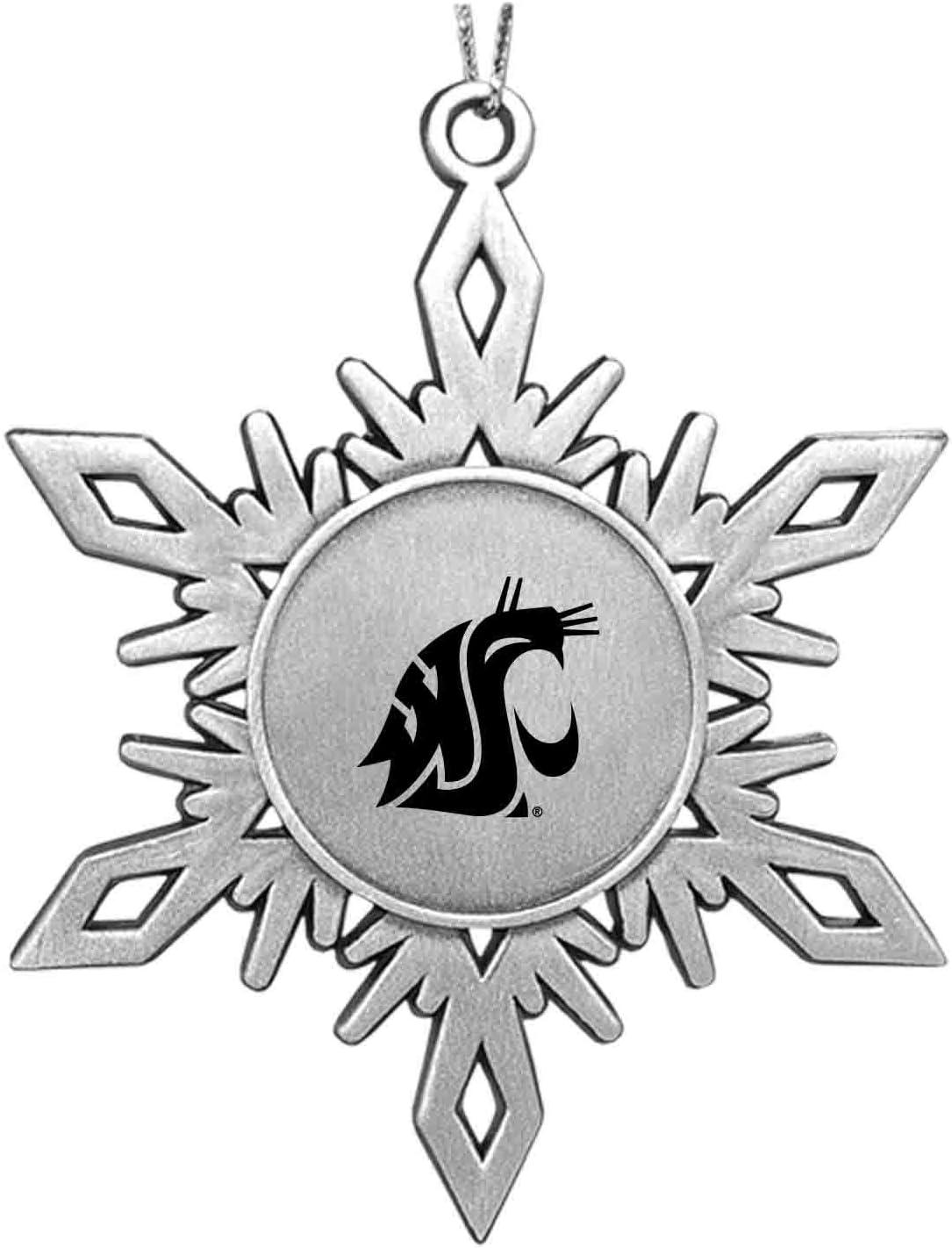 LXG, Inc. Washington State University|Snowflake Ornament|Pewter