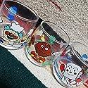 廃盤 昭和レトロ 当時物 それいけアンパンマン ガラスタンブラー3個セット ガラスコップ グラスセット カレーパンマン しょくぱんまん