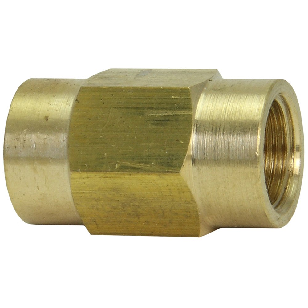 6mm Line Brass Union Pack of 10 Bubble Flare Both Sides Female Metric M12 X 1.0 Thread