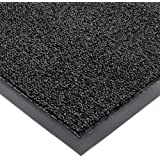 "Notrax 146 Encore Entrance Mat, for Inside Foyer Area, 4' Width x 6' Length x 5/16"" Thickness, Black"