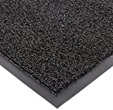 Notrax 146 Encore Entrance Mat, for Inside Foyer Area, 4' Width x 6' Length x 5/16'' Thickness, Black